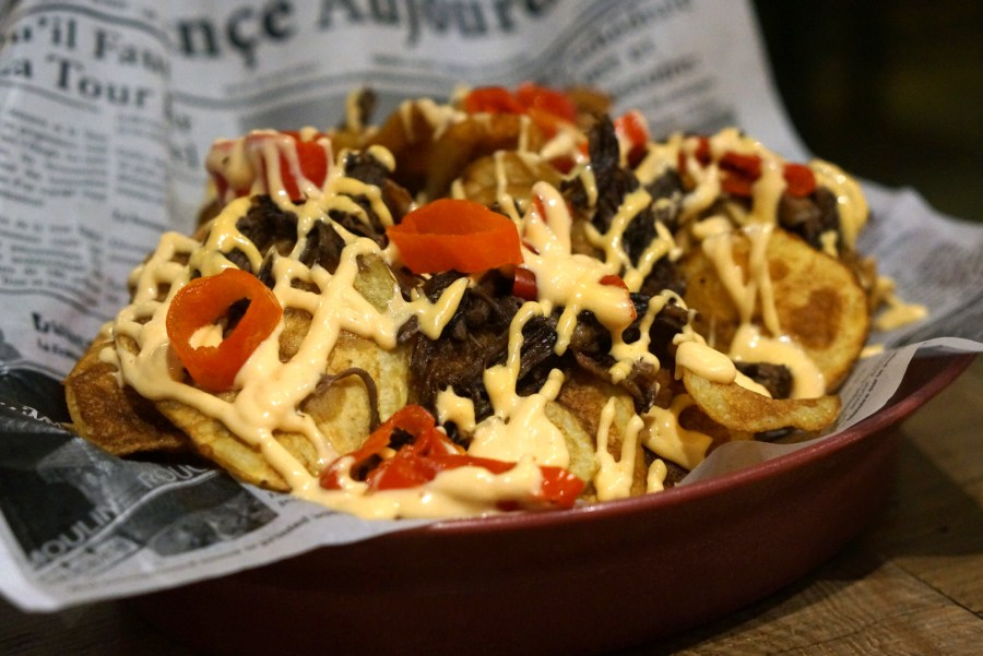 Yum Yum Nachos at Between the Sheets
