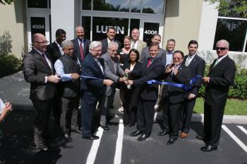 Ribbon cutting Lupin Pharmaceuticals in Coral Springs