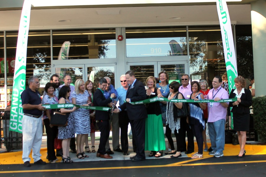 Representatives from the Chamber, City and Stein Mart at the ribbon cutting on Thursday for the new store in Coral Springs. Photo courtesy of the Coral Springs Chamber of Commerce.
