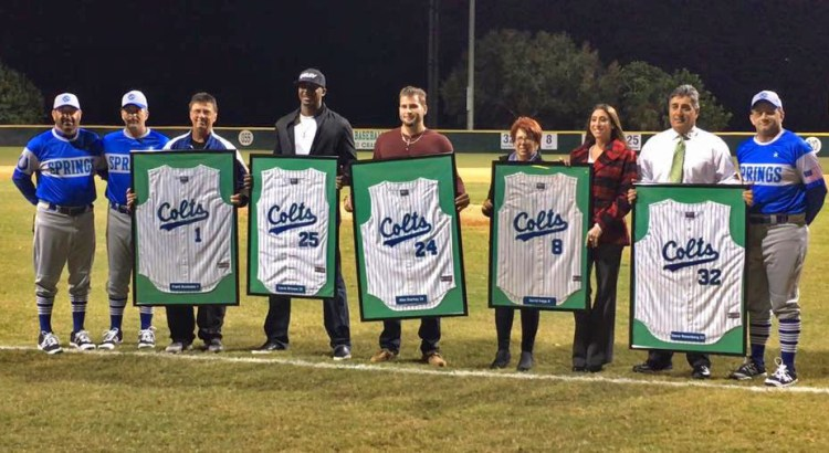 Coral Springs High School Colts Honor Past Players