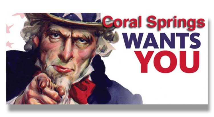 Coral Springs is Looking for a Few Men and Women to Run for Office