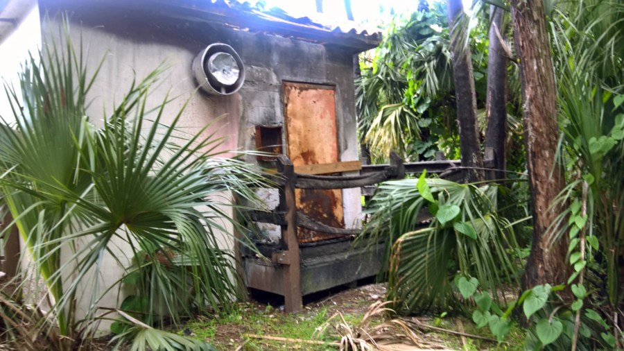 Bathrooms at Fern Glen Park in Coral Springs destroyed by an electrical fire.