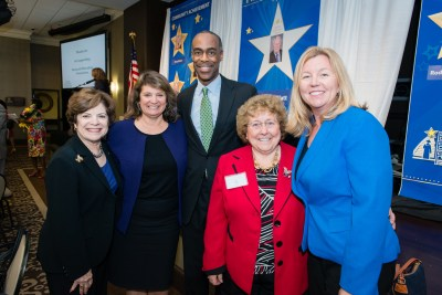 Broward County Commissioner Nan Rich, Laurie Rich Levinson, Superintendent Robert Runcie, Broward County School Board Members Ann Murray and Heather Brinkworth.
