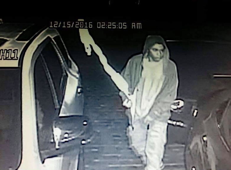 Suspect caught on surveillance camera. Do you recognize him?