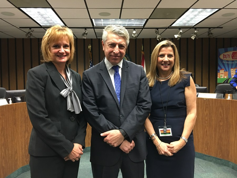 City Manager Erdal Dönmez pictured with Deputy City Managers Jennifer Bramley and Susan Grant on Wednesday.