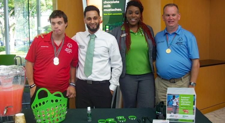 Special Olympic Athletes Make Guest Appearance at Coral Springs Bank