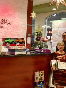 Camilla Day Spa Holds Annual Toy Collection and Holiday Party