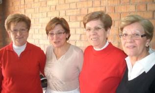 Irene, Lina, Fineta y Gloria.