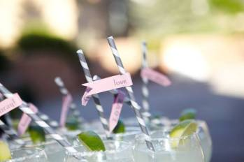 Cocktails with Personalized Straws
