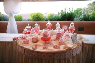 Love Sweet Love Candy Buffet Table in Shades of Pink