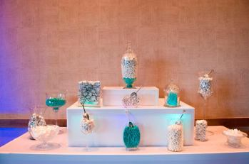 Teal and White Candy Bar