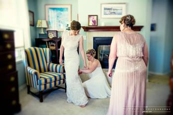 Putting on the Dress with Help from Loved Ones