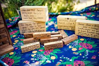 Jenga BlocksCovered with Warm Wishes