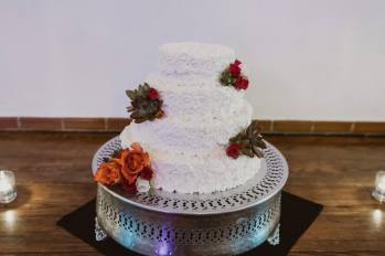 Wedding Cake with Fresh Florals