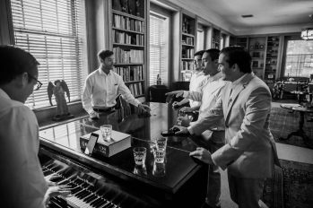 Groom And His Groomsmen Singing and Having Fun Before the Ceremony