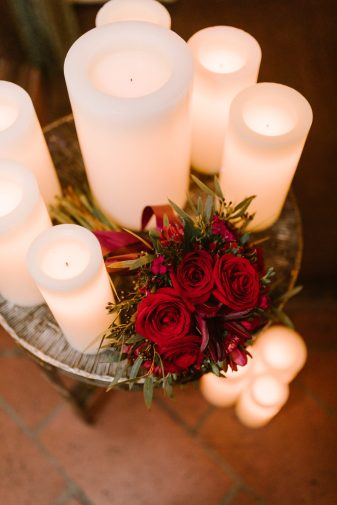 Romantic Proposal Flowers and Candels