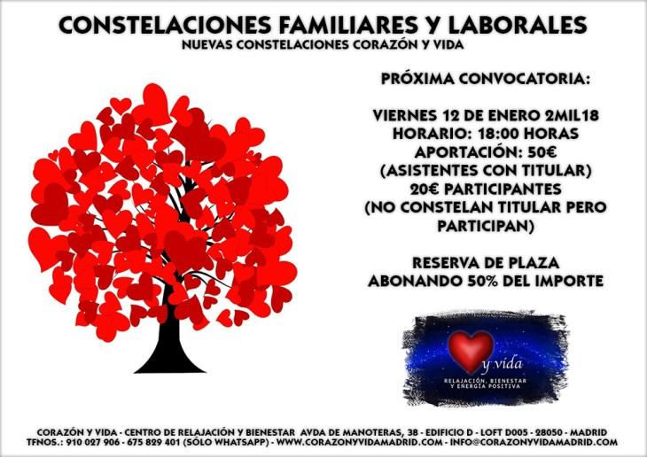Constelaciones familiares - Corazón y vida - Avda de Manoteras 38 - Loft D005 - Manoteras / Virgen del Cortijo - 28050 - Madrid - Distrito Hortaleza