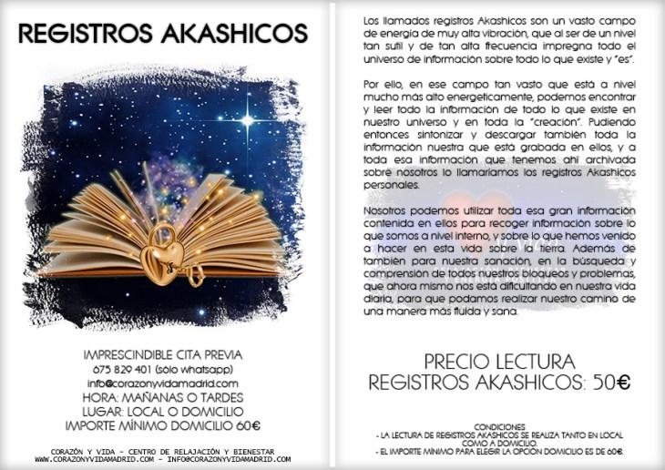 Registros akashicos - Corazón y vida - Tfno.: 675 829 401 (sólo WhatsApp) - info@corazonyvidamadrid.com