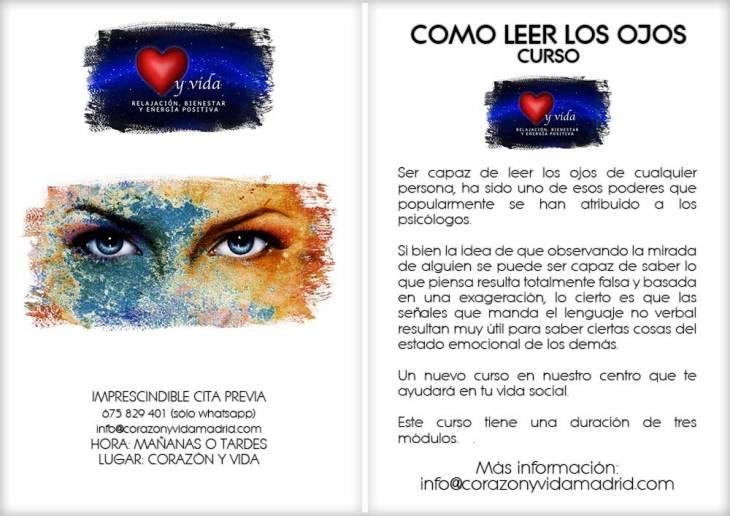 Curso de como leer los ojos - Corazón y vida - Madrid - Guadalajara - Tfno.: 675 829 401 (sóloWhatsApp) - 28003 - Madrid - info@corazonyvidamadrid.com