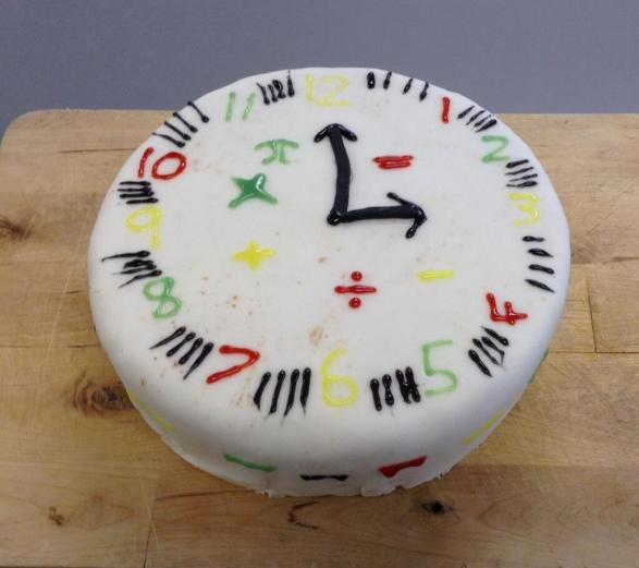 Clock Cake - @7maths7 entry