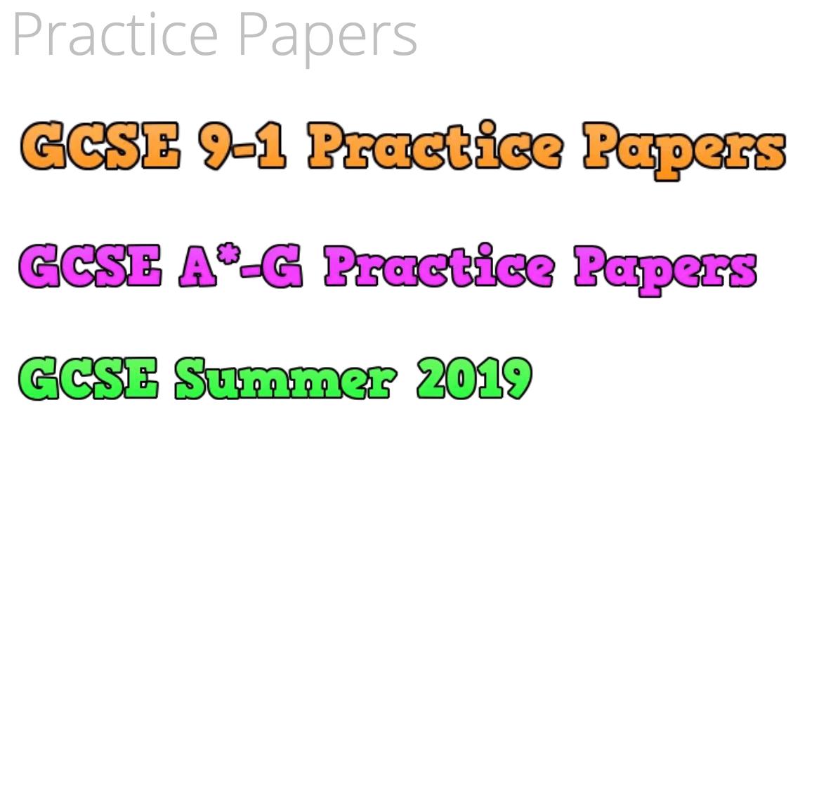 Practice Papers – Corbettmaths