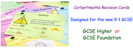 Corbettmaths Revision Cards
