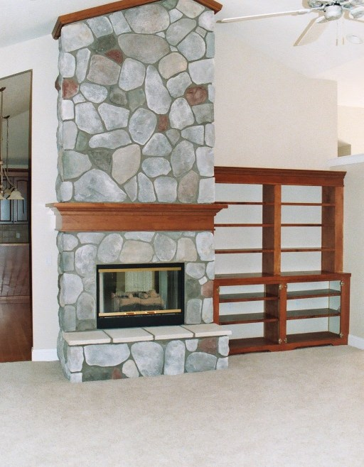 Custom Home HA Fireplace