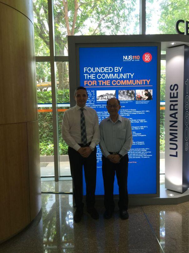 Con el Profesor Lim Hock