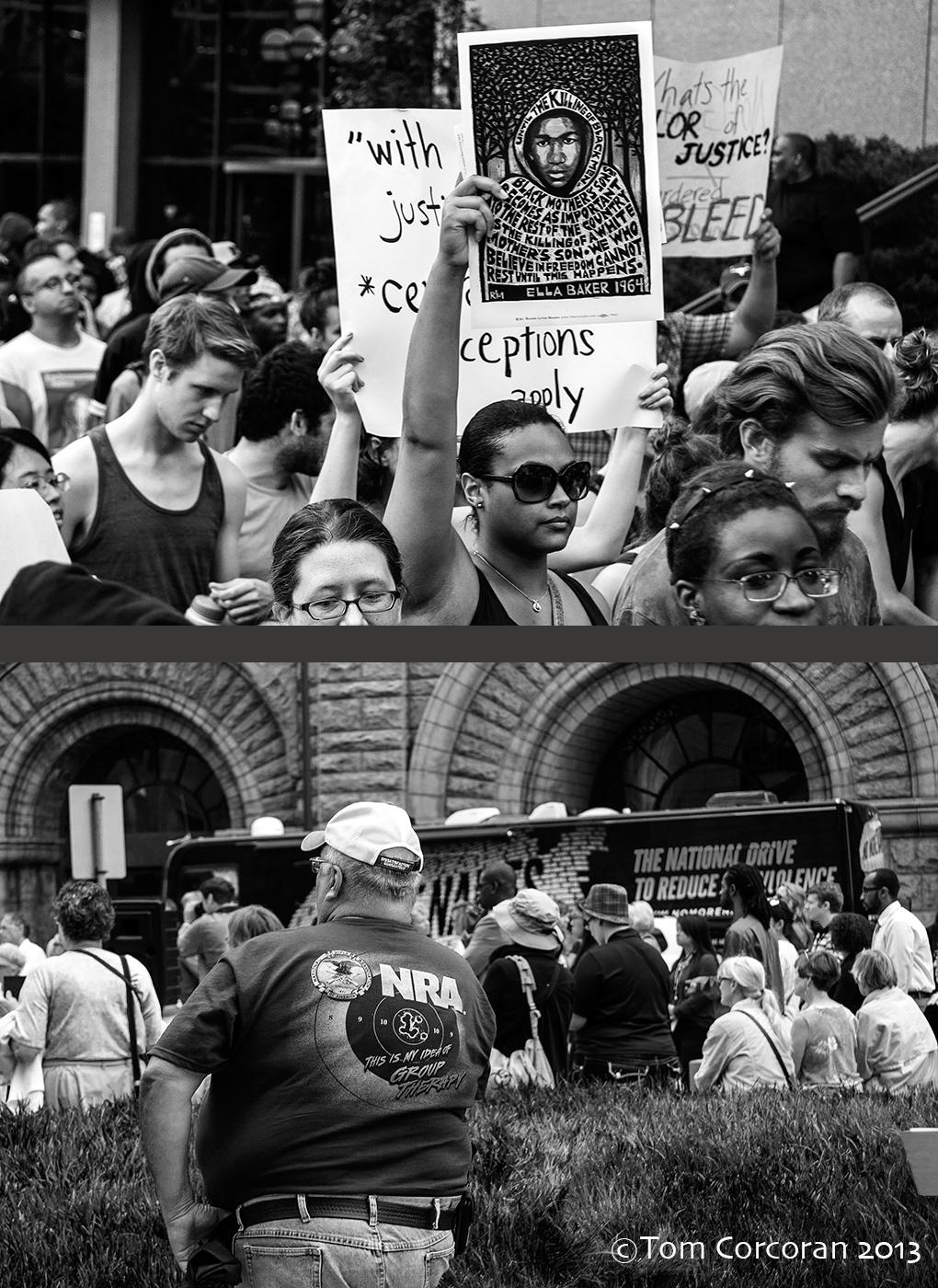 Top: Rally For Trayvon Bottom; No More Names