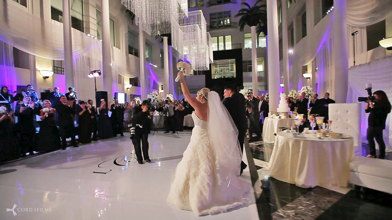 Atrium At The Curtis Center Wedding Film Videography Cinematography Wedding Films Modern