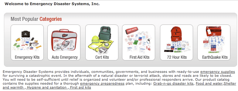 EDS > Emergency Kits > Categories