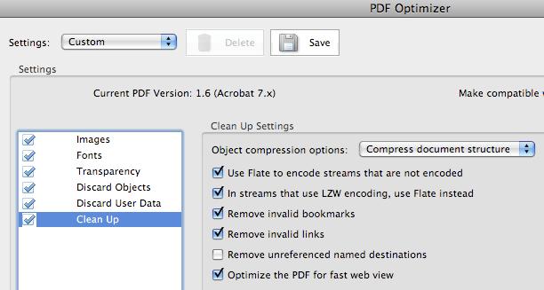 Acrobat Professional 8 > PDF Optimizer