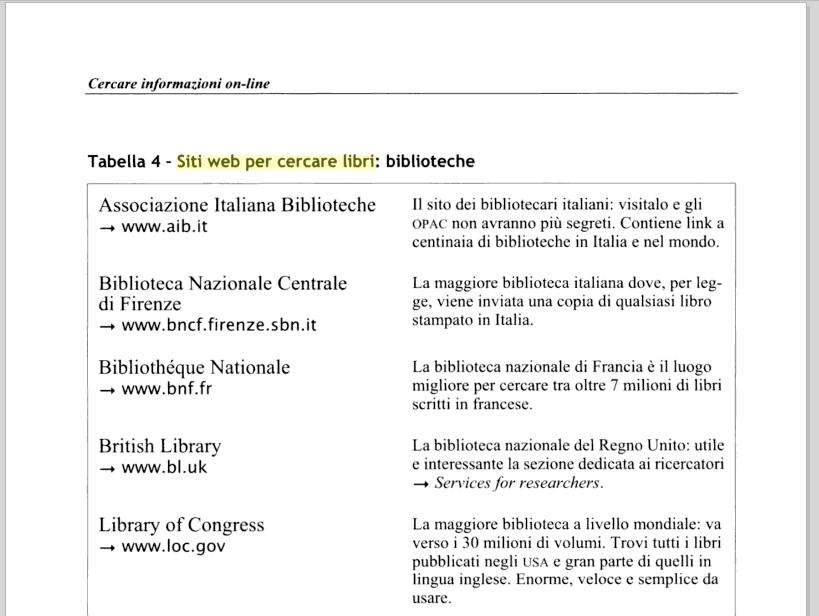 de Francesco & Delli Zotti, Tesi e tesine con PC e web, 2005, p. 72.