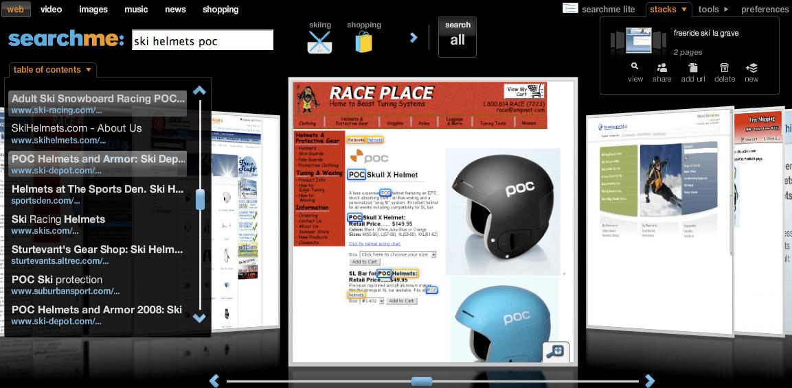 "Searchme > ricerca ""ski helmets poc"" > risultati"