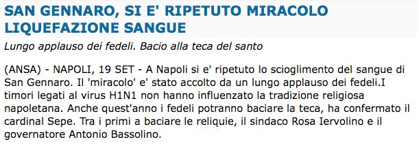 ANSA > 19.09.2009 > San Gennaro