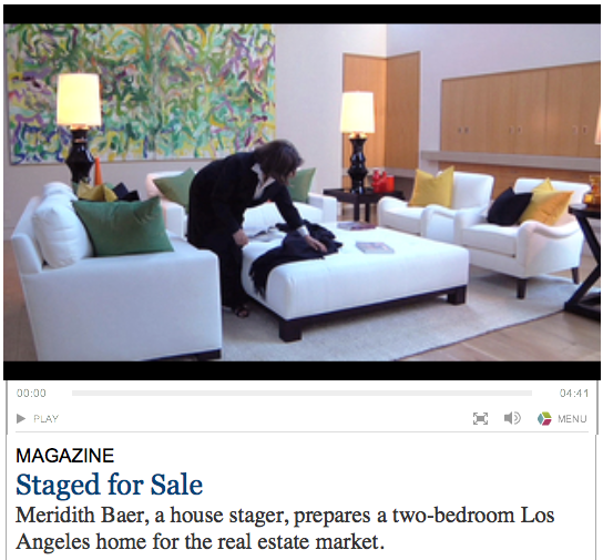 NYT > 2009 > House stager (video)
