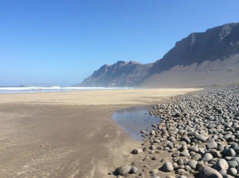 La spiaggia di Farama verso nord