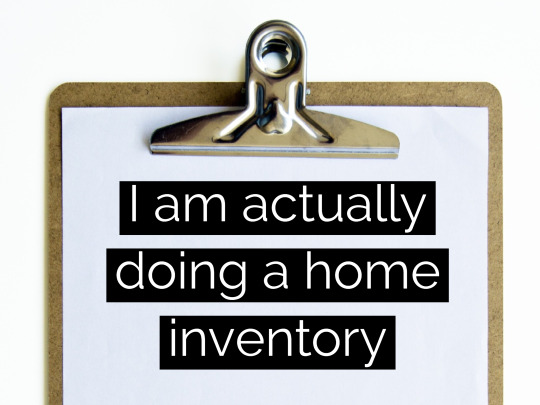 I am doing a home inventory
