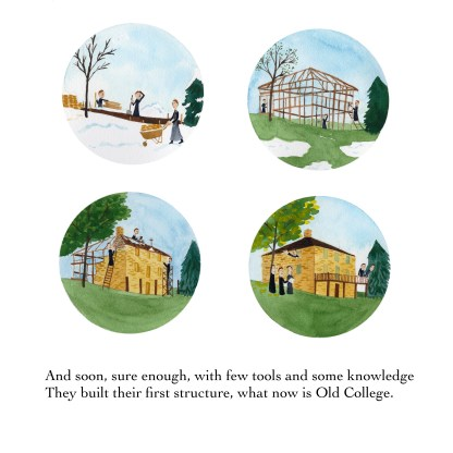 Old College Page from Sorin Starts a School