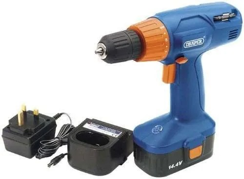 Draper 71385 14.4-Volt Variable-Speed Cordless Combination Screwdriver and Rotary Drill CD140V