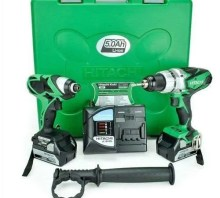 Hitachi KC18DKL-JB 18V Li-Ion Combi Drill and Impact Driver (Twin Pack)