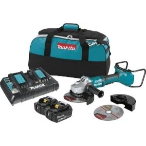 An image of the MAKITA XAG12PT1 Angle Grinder Kit, one of the best cordless angle grinder you can have in your tool collection