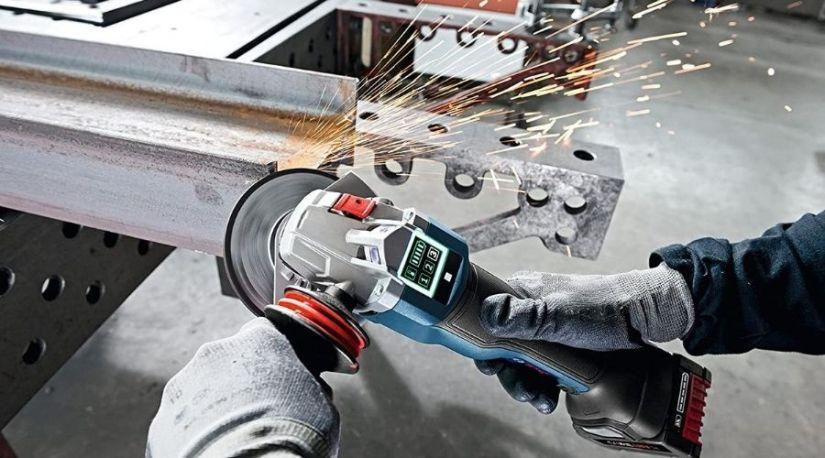 The best cordless angle grinder in use to cut through a metallic object