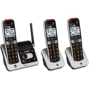 a picture representation of AT&T BL102-4 DECT 6.0 4-Handset Cordless Phone, one of the best cordless phones with answering machine