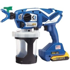 a picture of Graco Ultra Max Cordless Airless Handheld Paint Sprayer 17M367, one of the best cordless paint sprayer model
