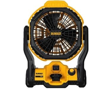 talk of versatility; the above image shows DEWALT 20V MAX Cordless Fan for Jobsite, an example of the best cordless fan that can operate in both corded and cordless modes.