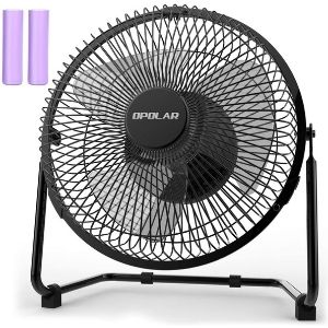 An image of OPOLAR Battery Operated Rechargeable Desk Fan, an essential and powerful unit among the best cordless fan models