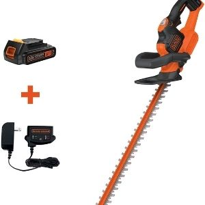 An image of BLACK+DECKER 20V MAX, one of the best cordless hedge trimmer models