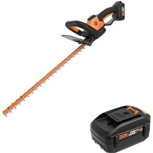 WORX WG261 20V Power Share 22-inch, one of the most lightweight best cordless hedge trimmer available in the market