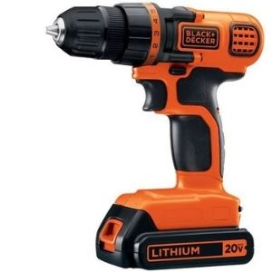 BLACK+DECKER 20V MAX Cordless Drill picture, an example of the best lightweight cordless drill powerful to drill through any material